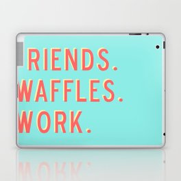 PARKS AND REC FRIENDS WAFFLES WORK Laptop & iPad Skin
