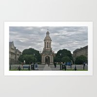 college Art Prints featuring Trinity College by Stephany Forsythe
