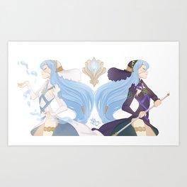 Azura: Hoshido vs. Nohr Art Print