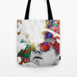 John F Kennedy Cigar And Sunglasses Colorful Tote Bag