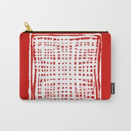 screen, white on red Carry-All Pouch