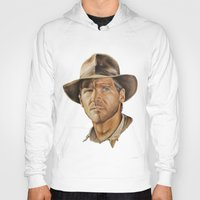 indiana Hoodies featuring Indiana Jones by Ashley Anderson