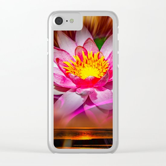Weness - Water Lily Clear iPhone Case