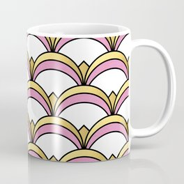 Pink and Gold Art Deco Pattern Coffee Mug