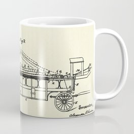 Extension Fire Ladder and Truck-1894 Coffee Mug