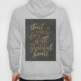 CHALKBOARD WALL ART, Start Each Day With A Grateful Heart,Thankful Heart,Motivational Quote,Inspirat Hoody