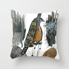 Wingless Throw Pillow