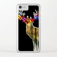 Flower deer Clear iPhone Case