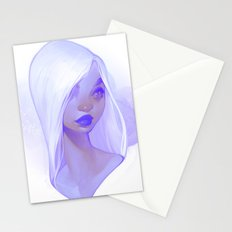 visage - lilac Stationery Cards