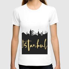 ISTANBUL TURKEY DESIGNER SILHOUETTE SKYLINE ART T-shirt