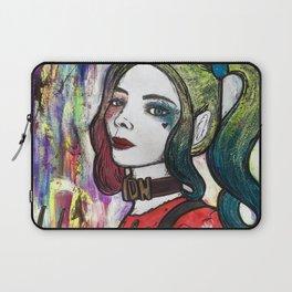 Nail Polish Paintng Of Harley Quinn Laptop Sleeve