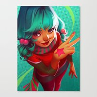 bubblegum Canvas Prints featuring Bubblegum by loish