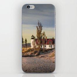 Point Betsie Lighthouse at Sunset iPhone Skin