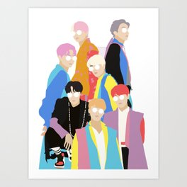 BTS IDOL Hanbok Illustration Art Print