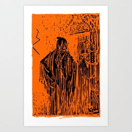 The Ghost at the Door Art Print