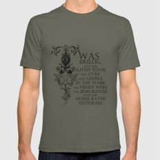 Alice In Wonderland Jabberwocky Poem 2X-LARGE Lieutenant Mens Fitted Tee