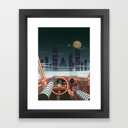Night driver Framed Art Print