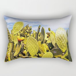 Fig tree in the countryside near the medieval white village of Ostuni Rectangular Pillow