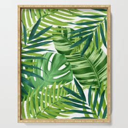 Tropical leaves III Serving Tray