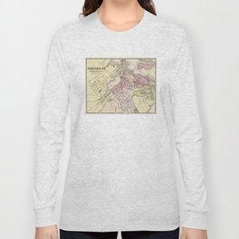 Vintage Map of Portsmouth NH (1877) Long Sleeve T-shirt