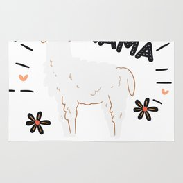 Mama Funny Llama Mother's Day Gift Rug