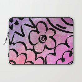 Flower Patch Watercolor Laptop Sleeve