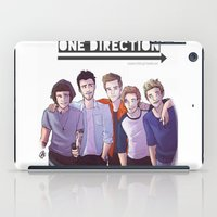 one direction iPad Cases featuring One Direction by Gianbe