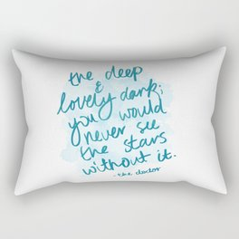 The Deep & Lovely Dark Rectangular Pillow