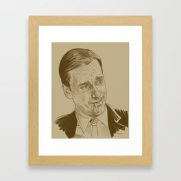 Don Draper (TV character played by Jon Hamm) Framed Art Print