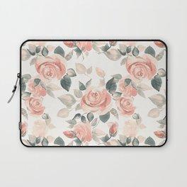 Delicate roses. Watercolor Laptop Sleeve
