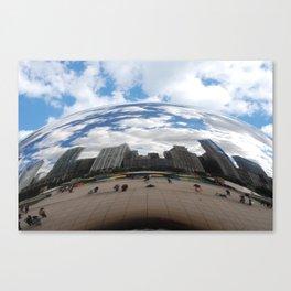 Through Cloud Gate Canvas Print