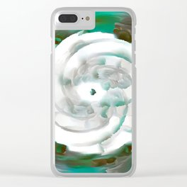 Random Whirl 3D No. 175 Clear iPhone Case