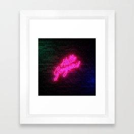 Hello Gorgeous - Neon Sign Framed Art Print
