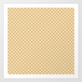 Check III - Mustard Art Print