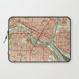 Vintage Map of Youngstown Ohio (1951) Laptop Sleeve