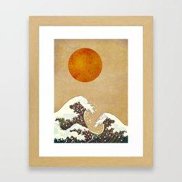 Stormy Sea - Kubistika by Boris Draschoff Framed Art Print