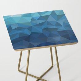 blue geometric Side Table