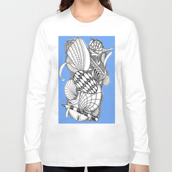 Gifts from the Sea Zentangle Style Long Sleeve T-shirt