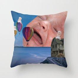 Babies and Balloons Throw Pillow