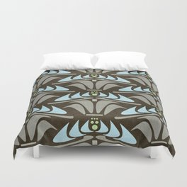 Blue - Arts and Crafts Inspired Stylized Floral Pattern - Susan Weller Duvet Cover