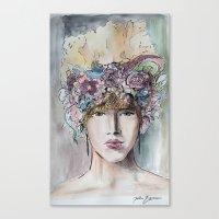 headdress Canvas Prints featuring Headdress  by Talitha Etters