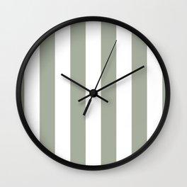 Desert Sage Grey Green Circus Tent Stripe Wall Clock