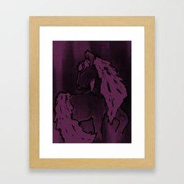 Lavender; horse Framed Art Print