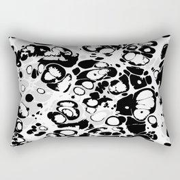 Black white gray ink paint spilled mess splashes platter effect Rectangular Pillow