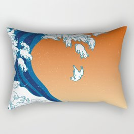 Llama Waves Rectangular Pillow