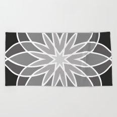 Shades of Grey | Geometric Pattern Beach Towel