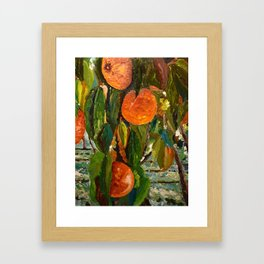 Jimmy and the Giant Peach Tree Framed Art Print