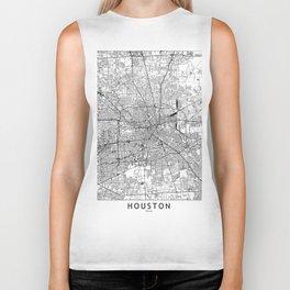 Houston White Map Biker Tank