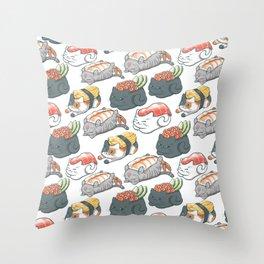 Sushi Cats Throw Pillow