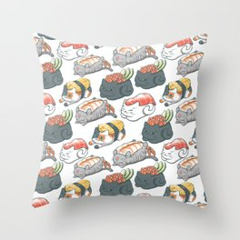 Sushi Cats Throw Pillow